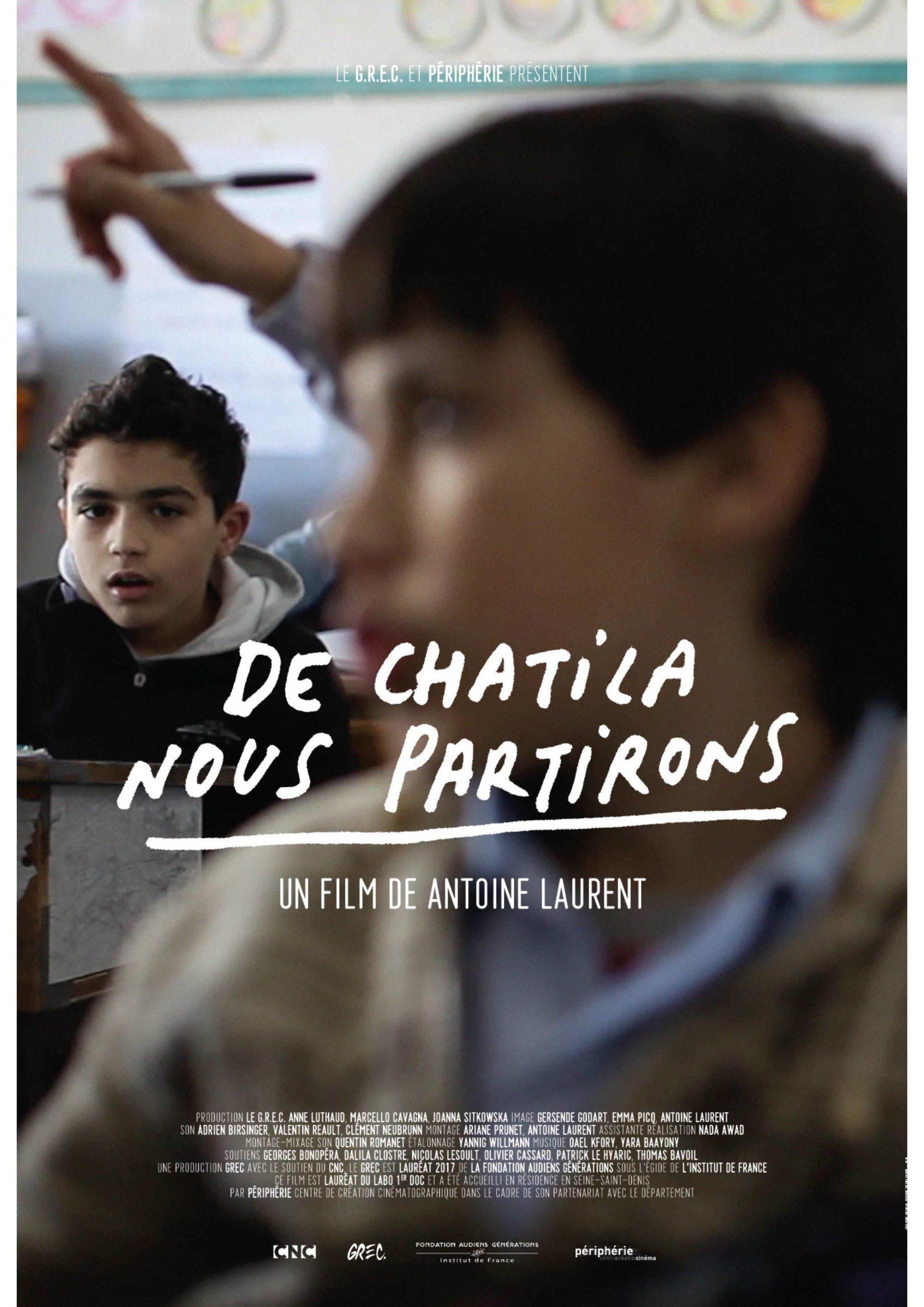 Affiche du film De Chatila nous partirons, d'Antoine Laurent