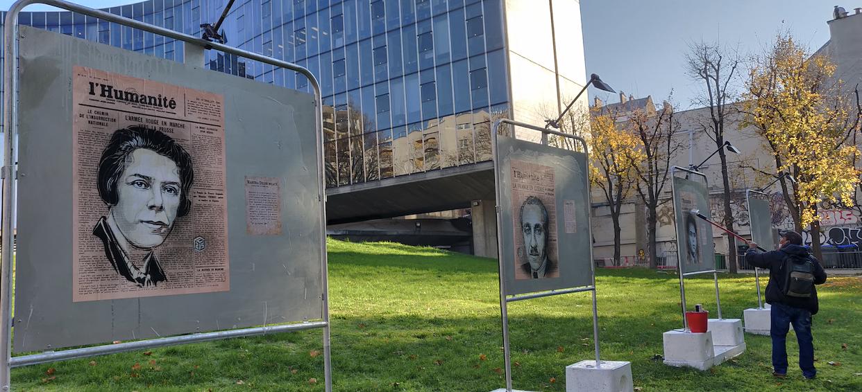 C215 expose des portraits de résistantes et de résistants communistes